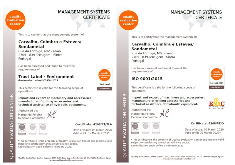 Renewal of Certificate ISO 9001/2015 and Environmental Certification