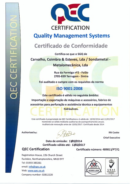 Certification ISO 9001/2008